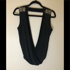 Marciano Double V-neck Top